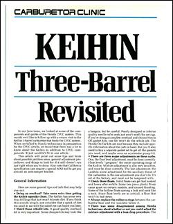Keihin Three-Barrel Revisited : Performance Technician
