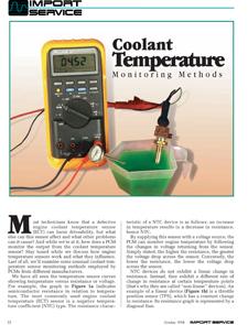 Coolant Temperature Monitoring Methods